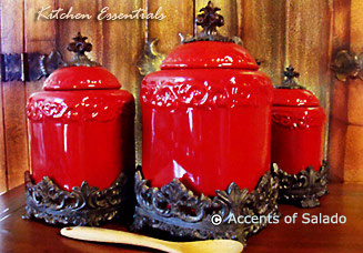 Cool Stunning Canisters For Kitchen With Kitchen Canisters Red With Red  Kitchen Canisters