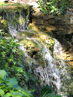 Water falls at Accents of Salado